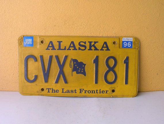 Alaska 1996 License Plate jewelry and craft by IndustrialHabitat