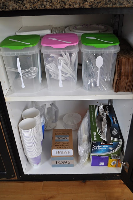 25 best ideas about organize plastic containers on - Plastic bathroom storage containers ...