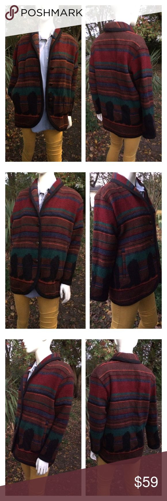 Unisex VTG Woolrich Jacket Indian Blanket Medium VTG Woolrich Long Coat Jacket Indian Blanket Wool Southwest Ranch Men's SZ M WOULD FIT A WOMEN LARGE Made in USA  In good condition - no piling   Rare VTG Woolrich Long Coat Jacket Beatific southwest boot design  Than you. 🏜🌅🌞👢 Woolrich Jackets & Coats