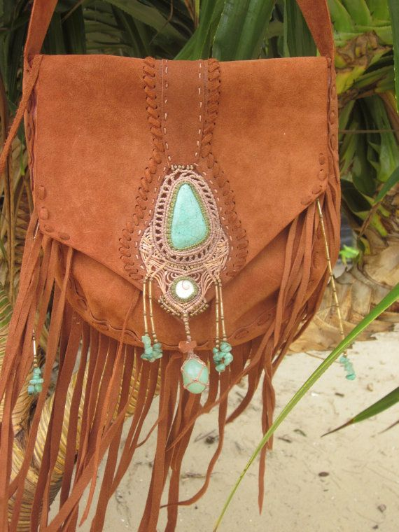 Hey, I found this really awesome Etsy listing at https://www.etsy.com/listing/193880091/bohemian-macrame-fringe-leather-bag