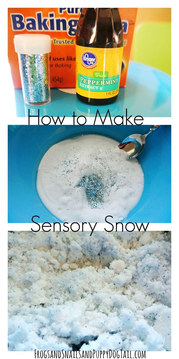how to make sensory snow sensory play idea for kids