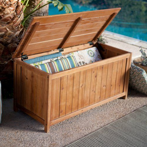 coral coast deck storage box warm honey stain outdoor benches at hayneedle