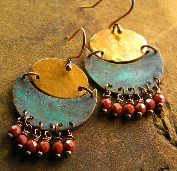 Pagoda Earrings by Gloria Ewing.