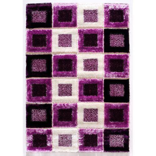 istikbal signature purple shag rug