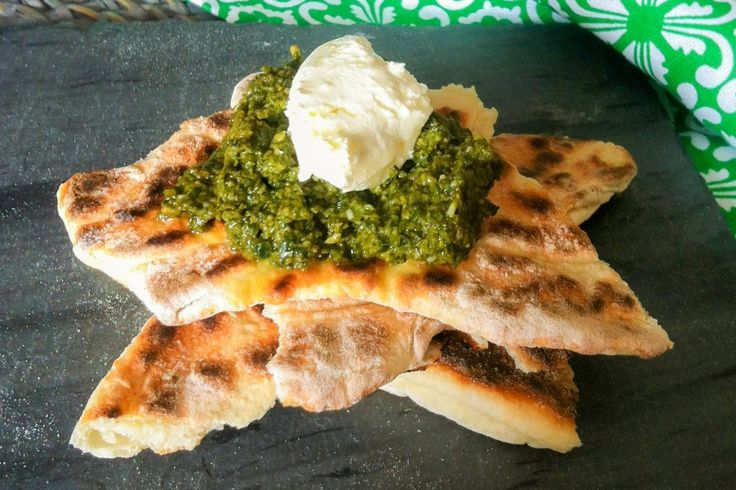 A recipe for Basil Pesto, an Italian sauce consisting of basil, crushed garlic, pine nuts, parmesan cheese and olive oil. Great in salads, to season meat or on its own as a dip.