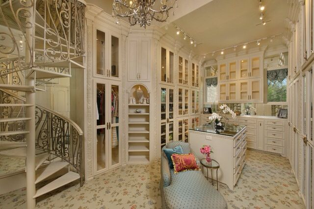 Closets-Luxurious Closet; cool stairway to 2nd level of closet