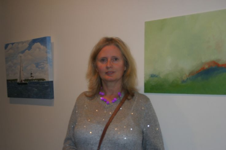 Studio artist Marcella Meagher at Culture Night