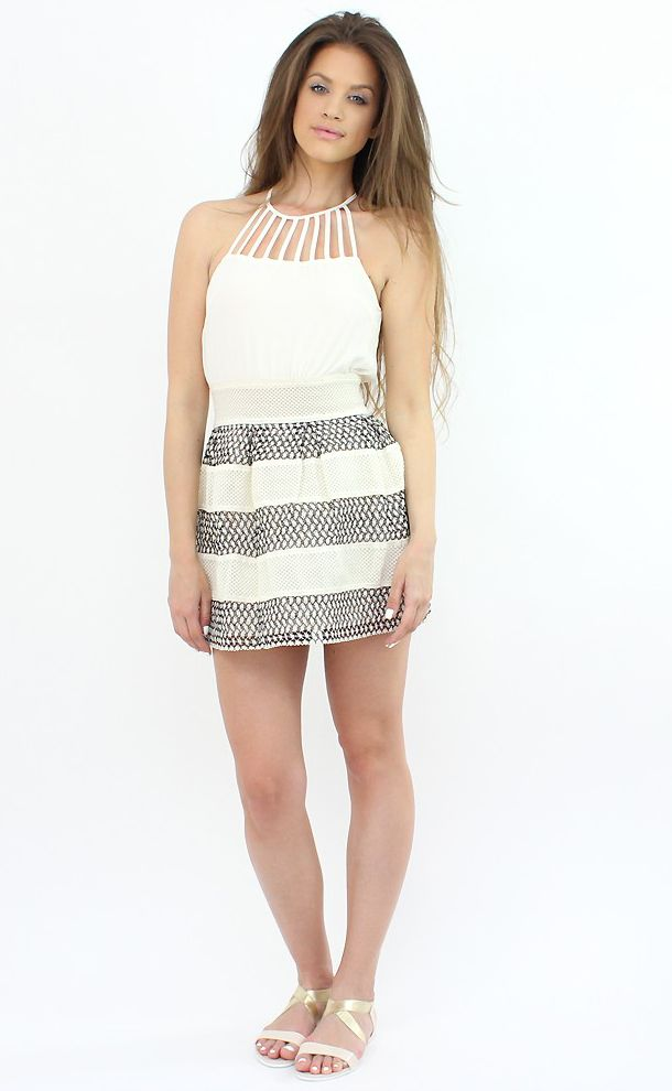 Chic Beige Minidress- complete your formal or summer wardrobe with this #fashion item..:)  #shopping #moda #dress #style #fashion