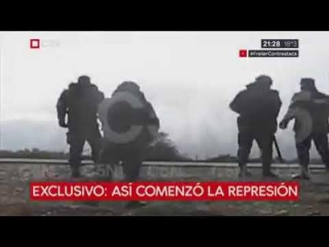 Material exclusivo de Juan Alonso sobre el accionar de Gendarmeria el día de la desaparición de Santiago Maldonado. - Santiago Maldonado