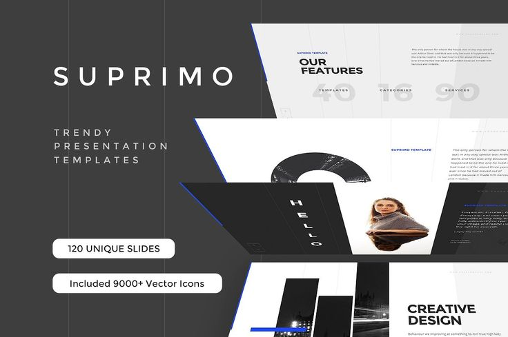 SUPRIMO is a stunning multipurpose template that meets the latest design trends to suit your needs. Included are 110+ trending slides, 100+ master slides, 650+ font icons, one click settings and much more! Additionally, every customer will receive the brand new collection of 9000+ Vector Icons adapted for presentations. SUPRIMO is easy to customize and use no matter your previous Powerpoint skill set. All slides are easily adjustable to suit your individual needs. SUPRIMO comes with 7…