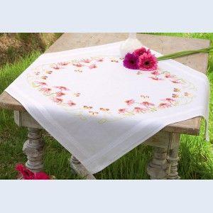 Echinacea and Butterflies: voorgedrukt borduurpakket voor kruissteek