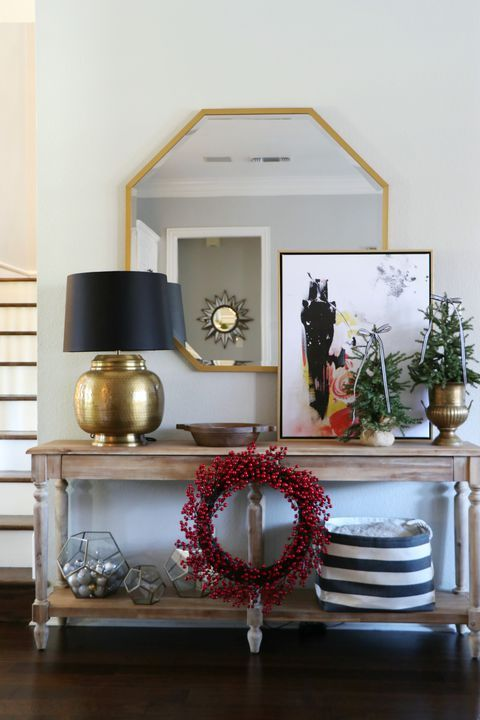 Image result for holiday wreath side table