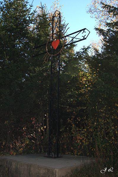 Croix de chemin (symbolique) - Rang 3, St-Camille-de-Lellis, MRC Les Etchemins, QC, Canada