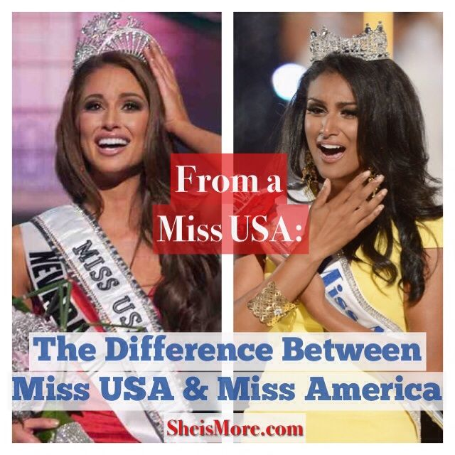 The Difference Between Miss USA  Miss America. This is a wonderful article not only about the two pageants but many other aspects in life! Go read!