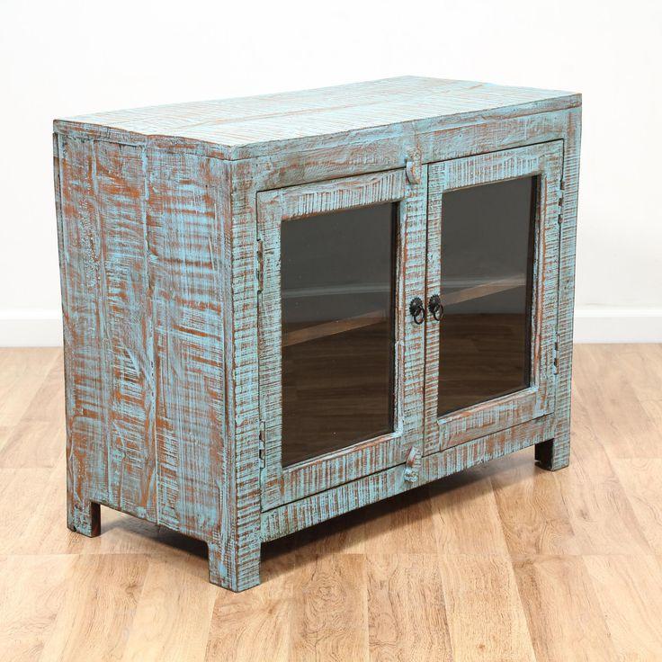blue shabby chic cabinet entertainment center tvs. Black Bedroom Furniture Sets. Home Design Ideas