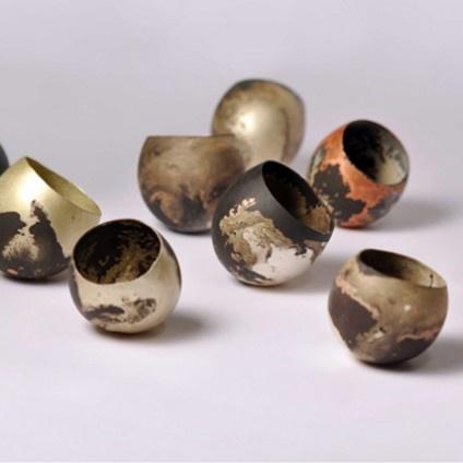 Peter Bauhuis, Dishes, bowls, 2012, diverse metals
