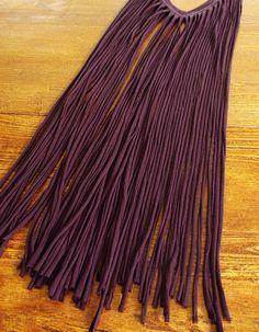 tshirt fringe scarf refashion - brassyapple.com