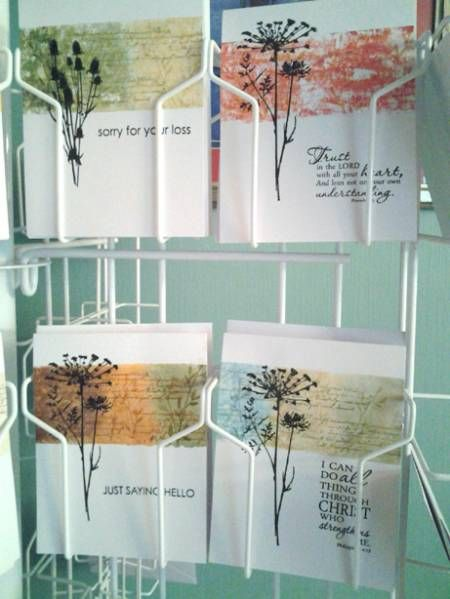 ...color directly on the acrylic block and then spritz with water for a beautiful watercolored background...