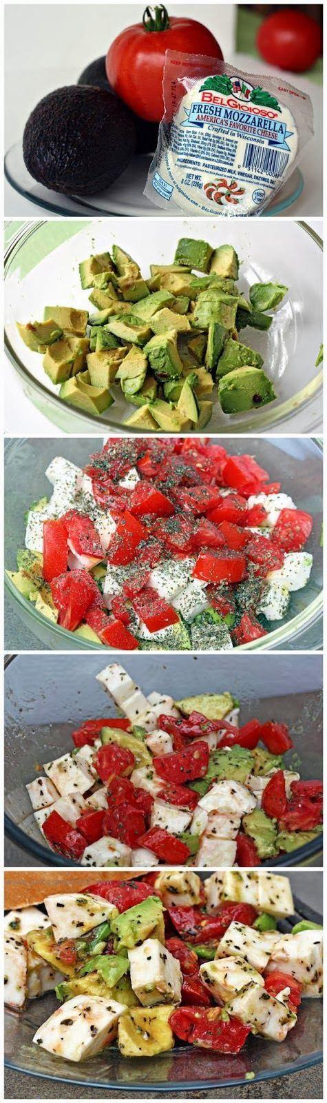 Mozzarella Salad Avocado Tomato Salad #healthy #avocado #salad