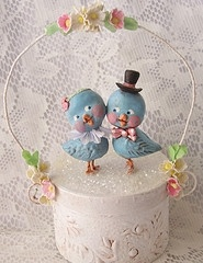 Paper mache clay bluebirds.Crafts Ideas, Art Crafts, Paper Macheclay, Clay Bluebirds, Clay Dolls Figures, Paper Clay, Paper Mache Clay, Paper Crafts, Bluebirds Doo Dads