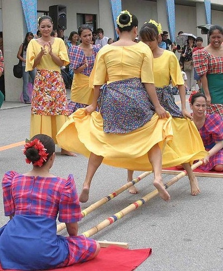 Tinikling Folk Dance  C Fun Physical Fitness Activity for Kids   Photo by Nestor Cruz  http   commons wikimedia org wiki File Tinikling_ cropped_version  jpg