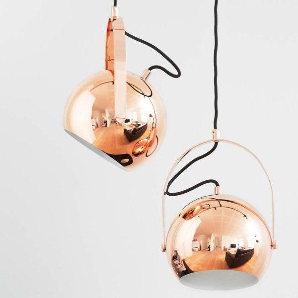 Frandsen Ball pendel m. håndtag - Kobber - Ø18