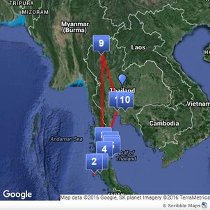 Bird of Balance Blog: Planning your route in Thailand