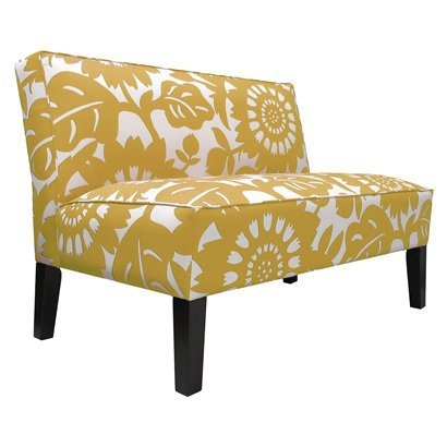 The Gerber Loveseat Settee   Sungold From Target. I Love The Large Scale  Print On This Settee. What A Great Find At A Reasonable Price!