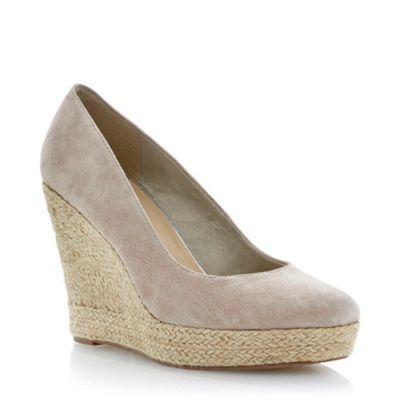 Taupe espadrille wedge court shoe at debenhams.com