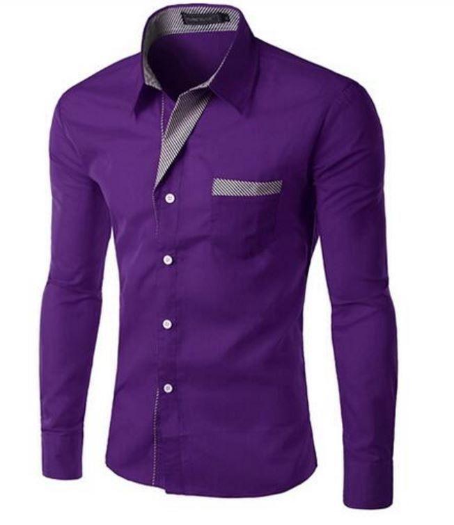 Elegantní pánská slim košile fialová – Velikost L Na tento produkt se vztahuje nejen zajímavá sleva, ale také poštovné zdarma! Využij této výhodné nabídky a ušetři na poštovném, stejně jako to udělalo již velké množství …