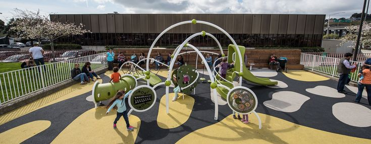 Woods Yard Park (Dogpatch) - Contemporary Playground - Toddler Community Play Area