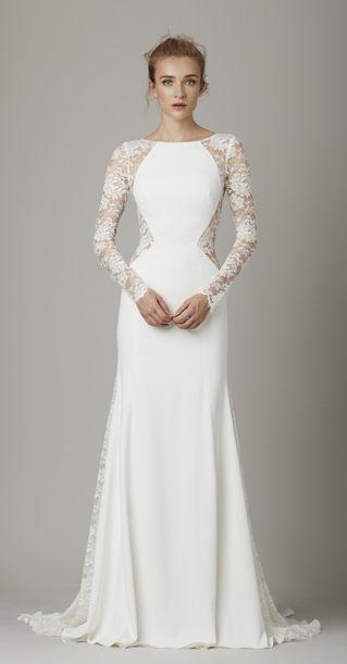 lela rose long sleeved wedding dress