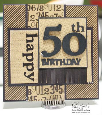 50th Male Birthday Card