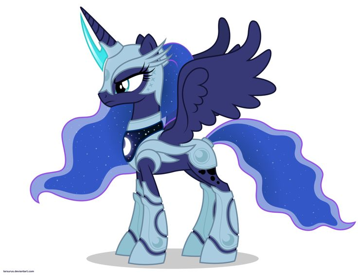 Luna in armor - No weapons by Larsurus on DeviantArt