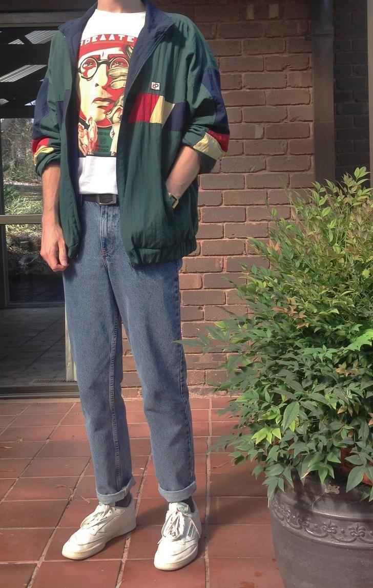 Baggy / Casual / Années 90 Streetwear Inspo - Famous Last Words 80s Fashion Men, Look Fashion, Street Fashion, Trendy Fashion, Fashion Styles, Fashion Vintage, Classy Fashion, Fashion Ideas, Mens Grunge Fashion