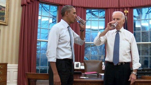 President Barack Obama and Vice President Joe Biden Show us how they Move