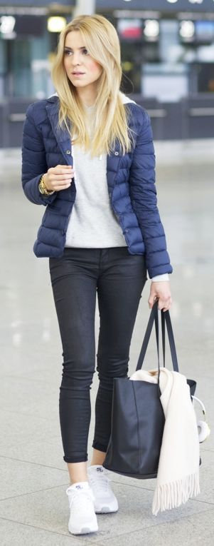 Navy Puffer Jacket by Make Life Easier