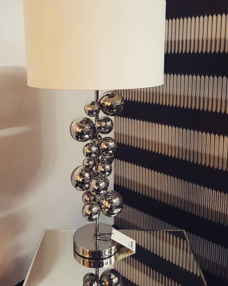Beautiful modern contemporary bubble design table lamp