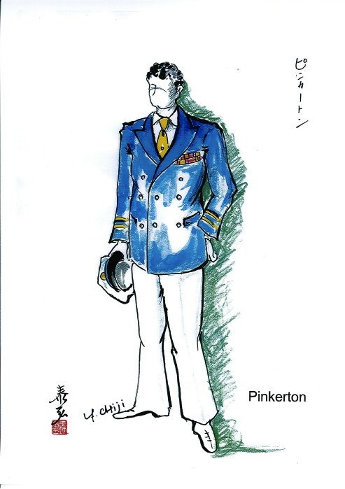 Costume sketch for Pinkerton