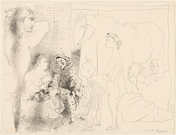 Image result for Pablo Picasso Saltimbanques Family Lithograph