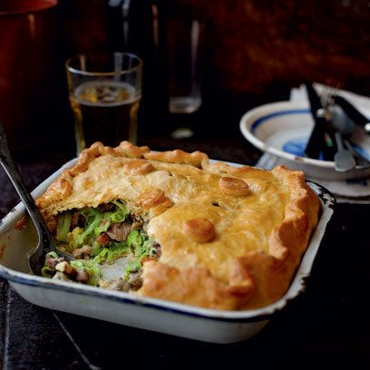 Soooo English! Chicken, leek and bacon pot pie.