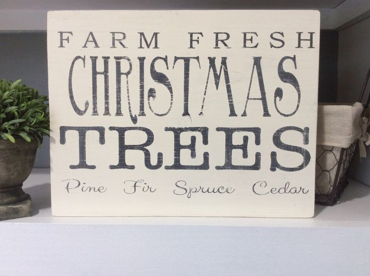 Farm Fresh Christmas Trees, Black and White by FarmhouseHeart on Etsy https://www.etsy.com/listing/250060624/farm-fresh-christmas-trees-black-and