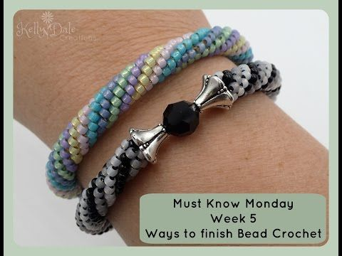 Must Know Monday (8/15/16) Bead Crochet : Week 5 (Ways to Finish Bead Crochet)…