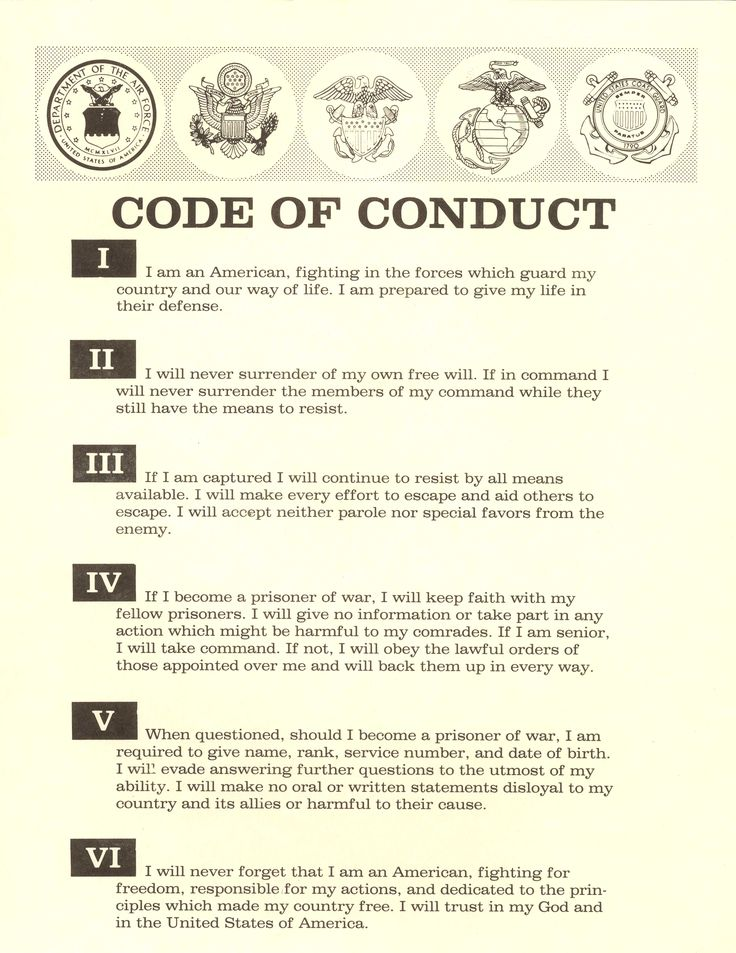 Military code of conduct on Pinterest Knight orders, Military - code of conduct example