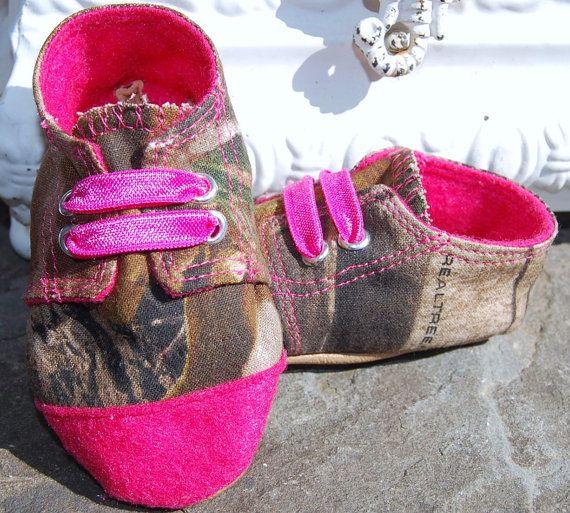 pink baby camo chucks inspired realtree baby shoes