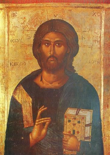"""CRISTO """"SALVATORE E FONTE DI VITA"""" - XIV sec., icona macedone"""