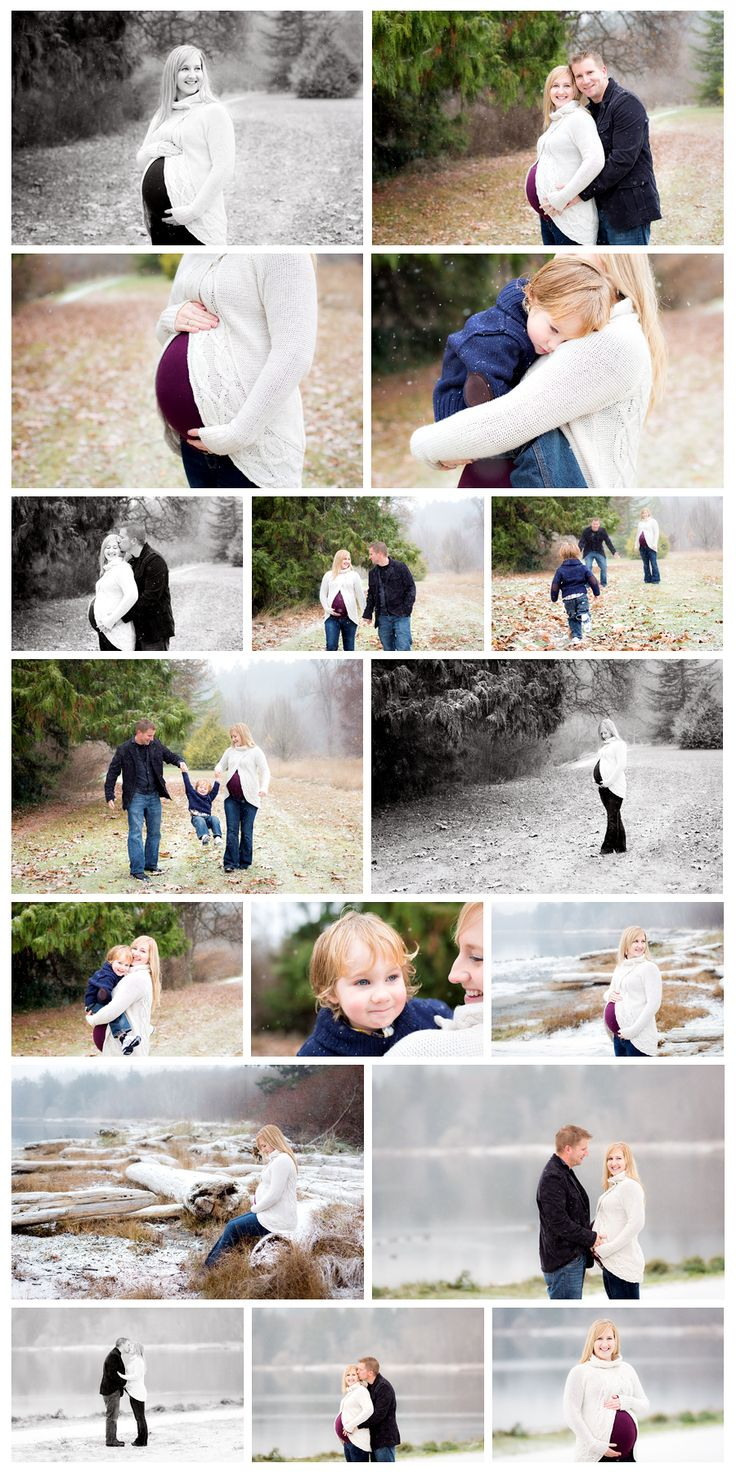 Maternity Session in the Snow >> Nicole Israel Photography   Victoria, B.C. #snow #maternity #photography #winter
