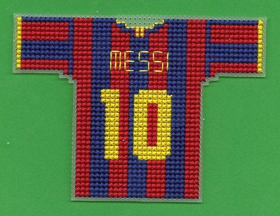 FC Barcelona : Mini Soccer Jersey Cross Stitch by TheENDZONE