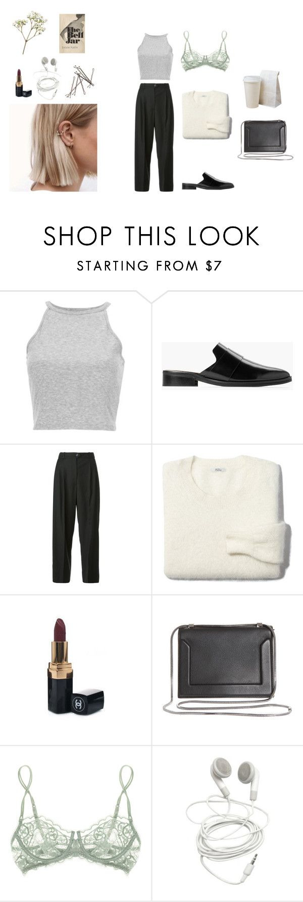 """noora amalie sætre"" by flowersinponds ❤ liked on Polyvore featuring MANGO, Chanel, Madewell, 3.1 Phillip Lim, La Perla and skam"