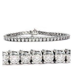 GENUINE Solid 14 Karat White Gold 2.00CT Round Brilliant Diamond Tennis Bracelet
